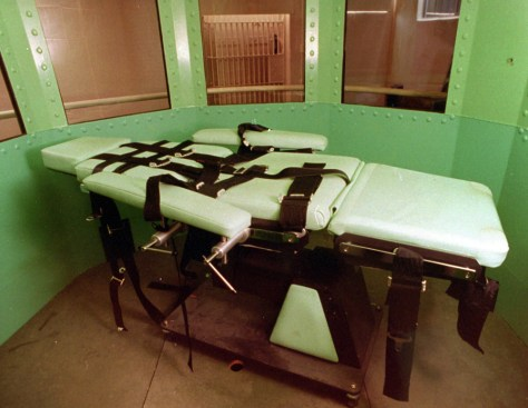 Image: Lethal injection table