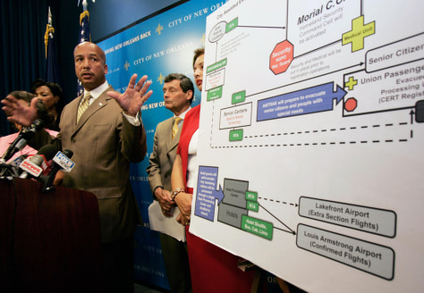 Image: Mayor Ray Nagin speaks to the media