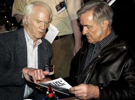 Image: Rusty Schweickart and Burt Rutan