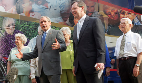 George W. Bush, Michael Leavitt,