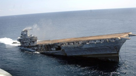 IMAGE: FORMER CARRIER SINKS