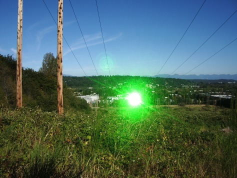 IMAGE: GREEN LASER BEAM