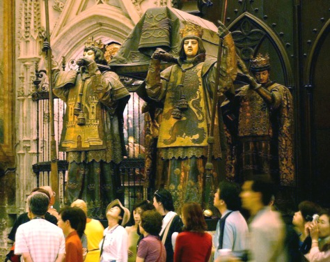 Image: Alleged tomb of Christopher Columbus, Cathedral of Seville