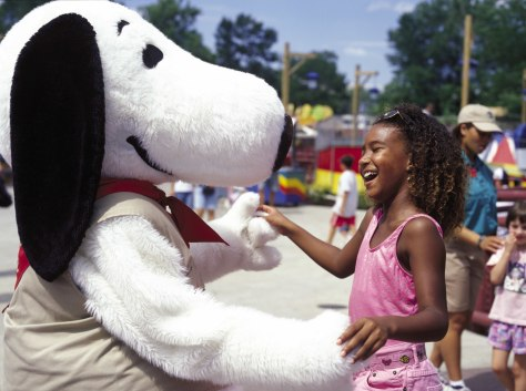 Image: Snoopy character with girl.