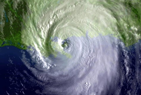 IMAGE: SATELLITE VIEW OF KATRINA