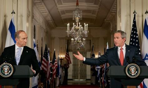 Image: Bush, Olmert