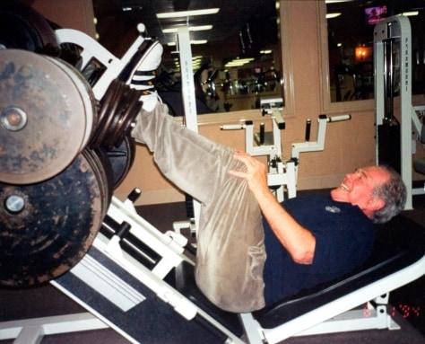 IMAGE: Pat Robertson leg-pressing