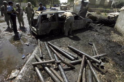 Image: Car bomb remains