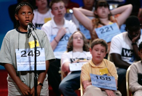 IMAGE: BOY AT SPELLING BEE