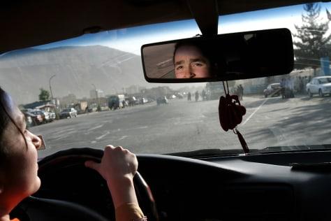 Image: Sofia Ziaee driving a car