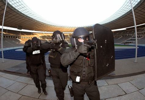 To accompany story Sport-Soccer-World-Security