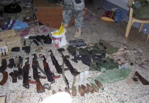 Image: Confiscated weapons