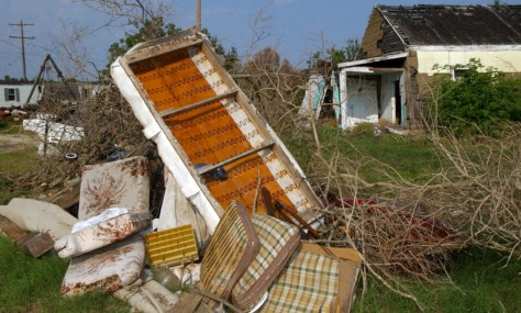 Image: Old hurricane debris in Texas.
