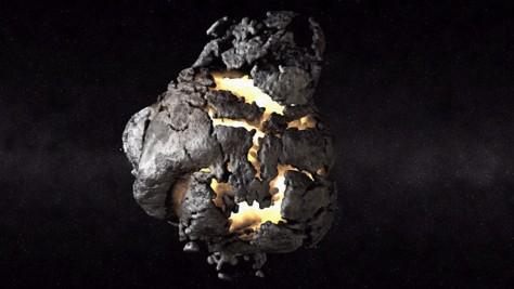 Image: Asteroid simulation