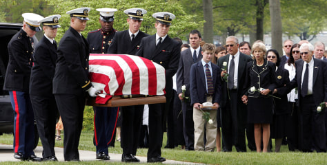 IMAGE: Marine's funeral