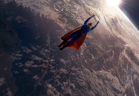 Image: Superman above the Earth