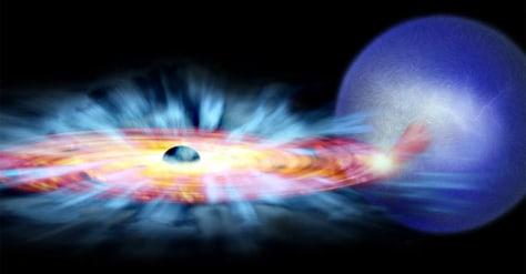 Image: Black hole illustration