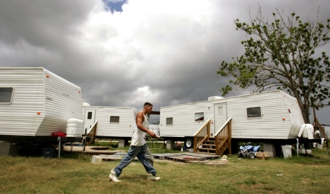 Image: Resident of FEMA trailers
