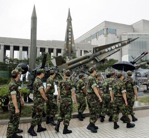 Image: Mock missiles