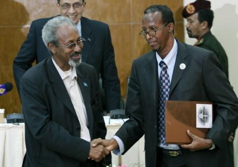 Image: Amr Moussa, Mohamed Ali Ibrahim, Abdallah Sheikh Ismai