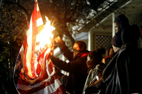 Image: U.S. flag burning