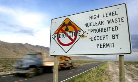 IMAGE: SIGN BANNING NUCLEAR WASTE TRANSPORT