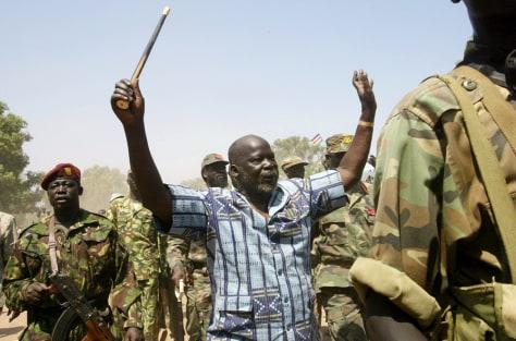 Image: John Garang, then leader of the Sudan People's Liberation Army