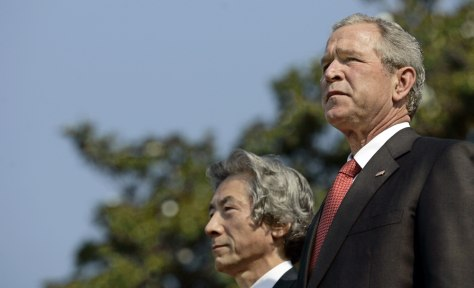 George W. Bush and Japan's Prime Minister Junichiro Koizumi