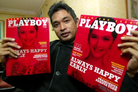 Image: Publisher-Director of Playboy Indonesia Erwin Arnada
