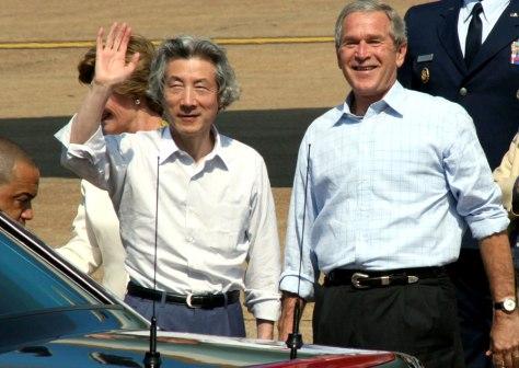 George Bush Junichiro Koizumi