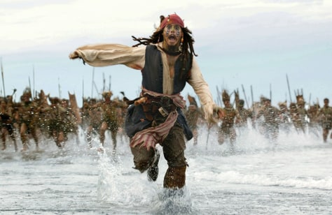 "Image: Scene from ""Pirates of the Caribbean: Dead Man's Chest."""