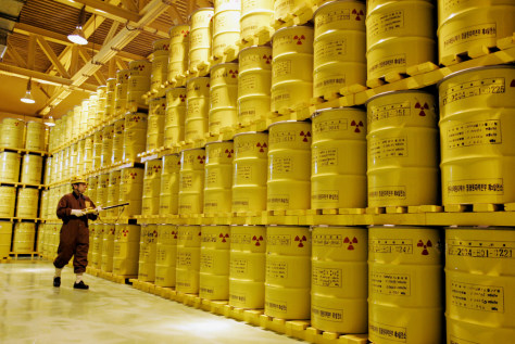 IMAGE: NUCLEAR WASTE STORED IN SOUTH KOREA