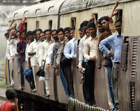 Image: Mumbai train.