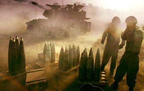 Image: Israelis fire artillery into Lebanon