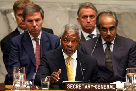 Image: U.N. Secretary-General Kofi Annan