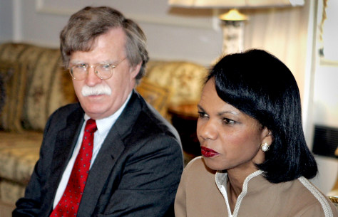 Image: Condoleezza Rice and John Bolton