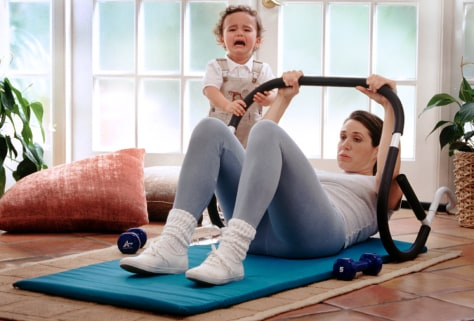 Image: Mom exercising