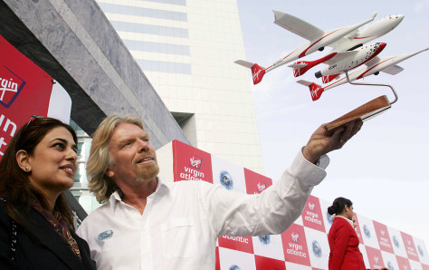 Image: Namira Salim and Richard Branson