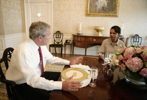 Image: President Bush, Secretary of State Rice