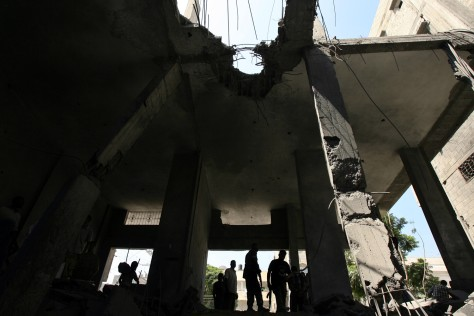 Image: Damaged Gaza house.