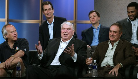 Dick Ebersol, John Madden, Al Michaels,Chris Collinsworth, Bob Costas, Jerome Bettis