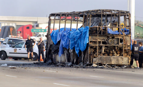 IMAGE: Burned-out bus