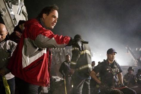 """Image: Oliver Stone on set of """"World Trade Center."""""""