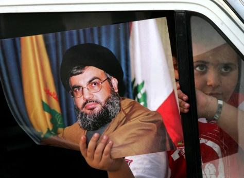 Image: Hezbollah leader Sheik Hassan Nasrallah