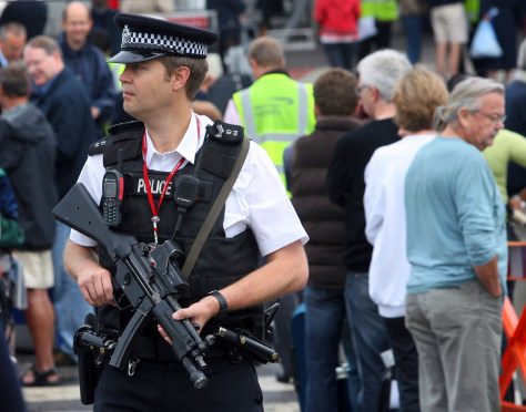 IMAGE: Armed patrol at Heathrow