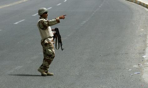 Image: Policeman in Baghdad