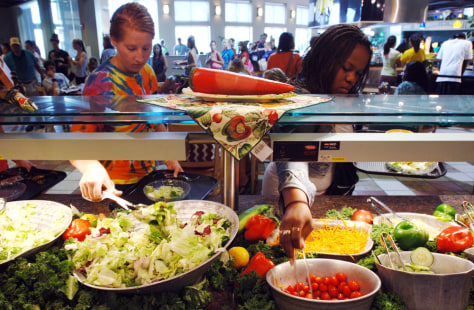 Image: School salad bar