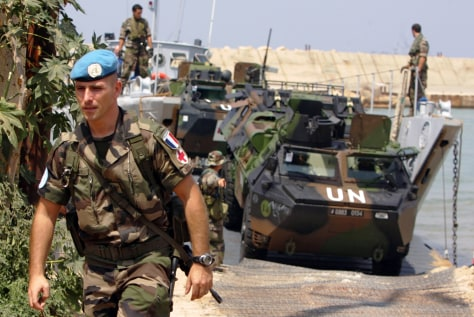 Image: French troops in Lebanon