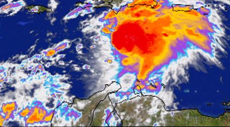 Image: Ernesto satellite