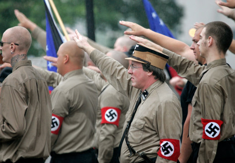 Image: Neo-Nazis rally in Wisconsin
